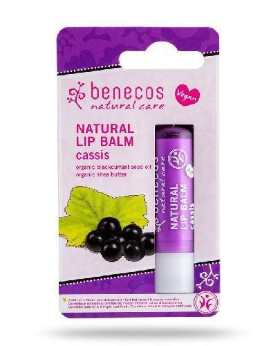 Benecos naturalny balsam do ust Czarna Porzeczka 4,8 g [Data ważności 31-08-2020]