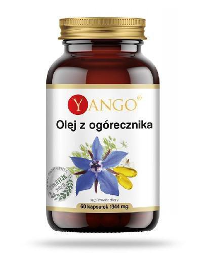 Yango Olej z ogórecznika 60 kapsułek  whited-out