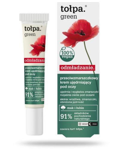 Tołpa Green Odmładzanie przeciwzmarszczkowy krem ujędrniający pod oczy 15 ml