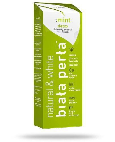Biała Perła Natural & White pasta do zębów bez fluoru mint 75 ml