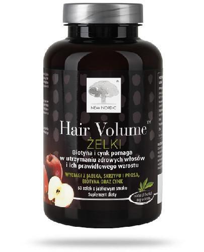 Hair Volume Żelki o smaku jabłkowym 60 sztuk [Data ważności 31-03-2021]