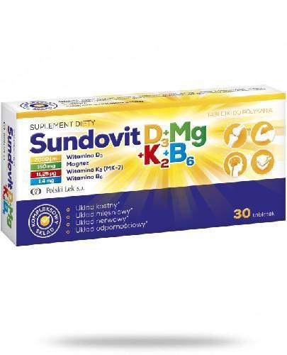 Sundovit D3+Mg+K2+B6 30 tabletek