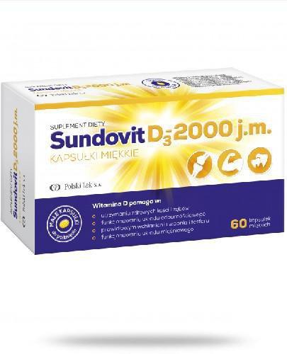 SundovitD3 2000 j.m. 60 kapsułek