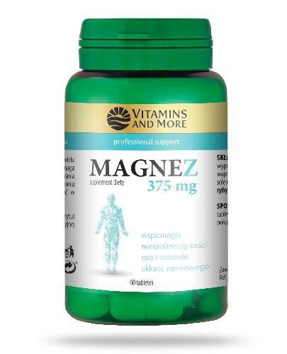 Vitamins And More Magnez 375mg 60 tabletek