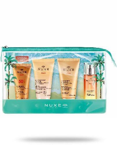 Nuxe Sun krem do opalania twarzy SPF50 30 ml + żel pod prysznic 50 ml + balsam po opalani...