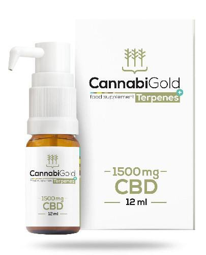 CannabiGold Tepenes+ 1500 mg olej CBD 12 ml
