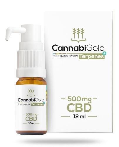 CannabiGold Terpenes+ 500 mg olej CBD 12 ml
