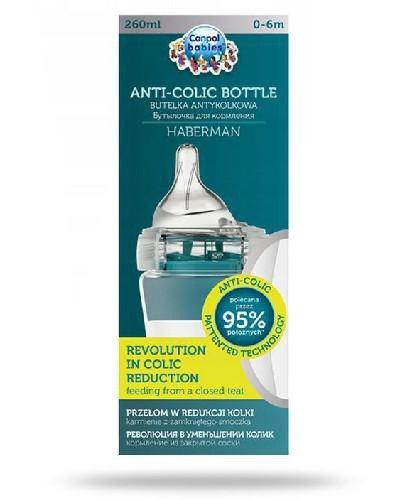 Canpol Babies Anti-Colic by Haberman butelka antykolkowa dla dzieci 0-6m 260 ml [1/098_bl...