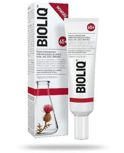 Bioliq 65+ krem intensywnie odbudowujący do skóry oczu, ust, szyi i dekoltu 30 ml