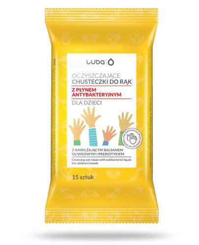Oczyszczające chusteczki do rąk dla dzieci z płynem antybakteryjnym 15 sztuk