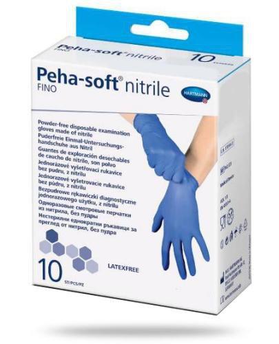 Hartmann Peha-Soft Nitrile Fino rękawice nitrylowe rozmiar L 10 sztuk