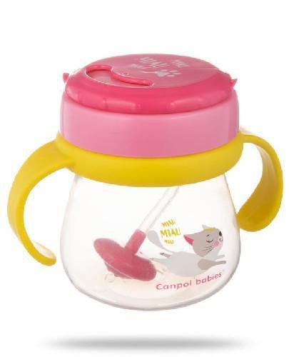 Canpol Babies kubek ze składaną rurką i odważnikiem 250 ml [56/520]