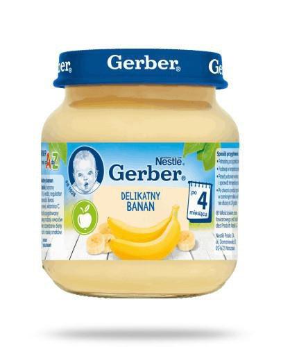 Nestlé Gerber Delikatny banan po 4 miesiącu 125 g