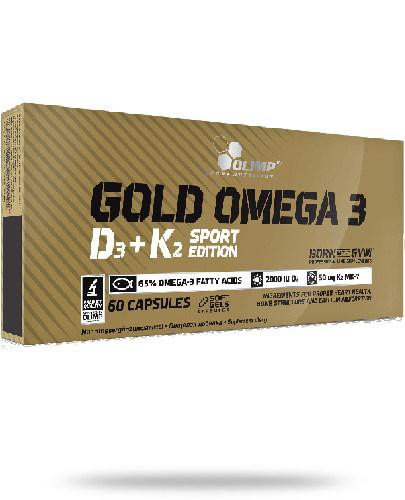 Olimp Gold Omega 3 D3+K2 Sport Edition 60 kapsułek