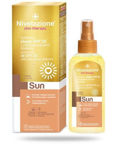 Ideepharm Nivelazione Skin Therapy Sun ochronny olejek z przyspieszaczem opalania SP...