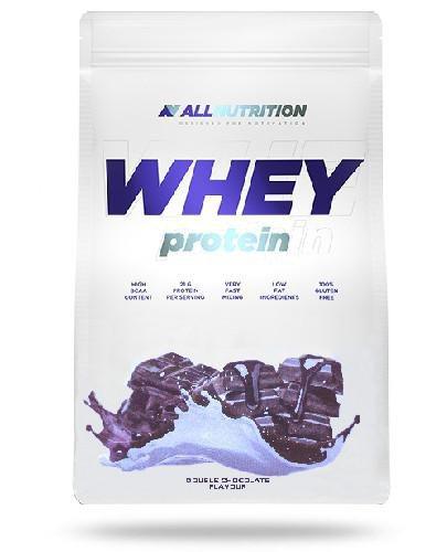 Allnutrition Whey Protein odżywka białkowa smak podwójna czekolada 908 g