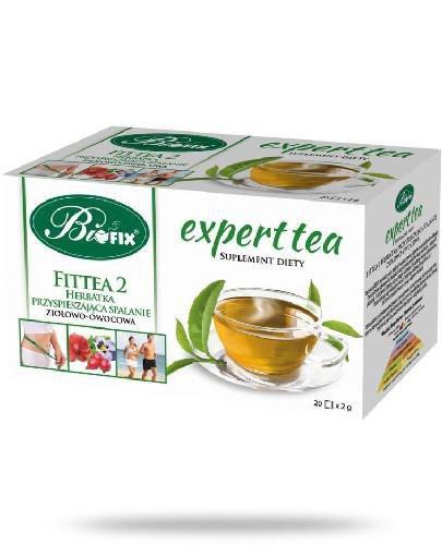 BiFix Expert Tea Fitteam 2 Herbatka przyspieszająca spalanie ziołowa-owocowa 20 saszetek