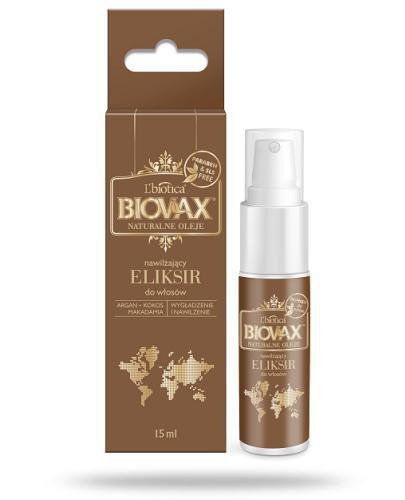 Biovax naturalne oleje argan makadamia kokos eliksir włosy suche i zniszczone 15 ml