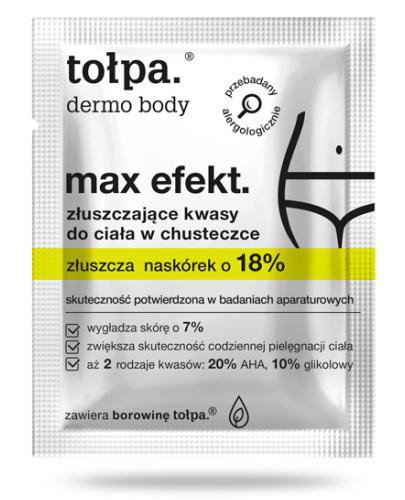 Tołpa Dermo Body Max Efekt złuszczające kwasy do ciała w chusteczce 8 sztuk
