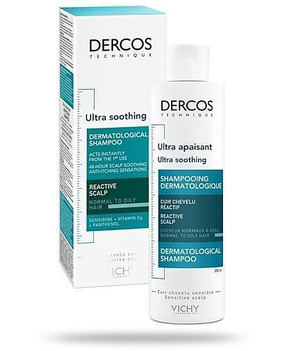 Vichy Dercos Ultra soothing ultrakojący szampon do włosów normalnych i przetłuszczają...