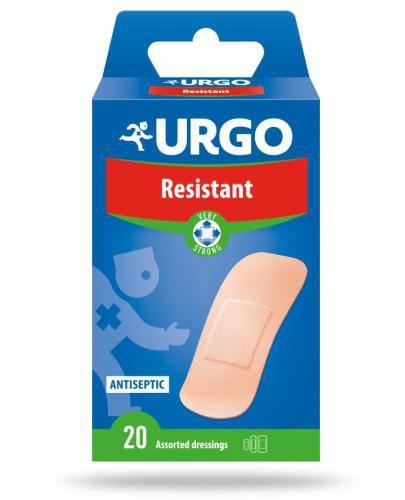 Urgo Resistant plastry wstępnie przycięte z kompresem antyseptycznym 20 sztuk