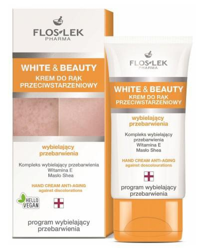 Flo-Lek White&Beauty krem do rąk anti-aging zapobiegający przebarwieniom 50 ml