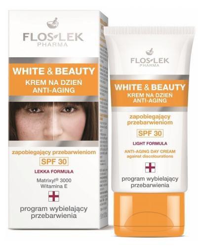 Flo-Lek White&Beauty krem na dzień anti-aging zapobiegający przebarwieniom SPF30 30 ml