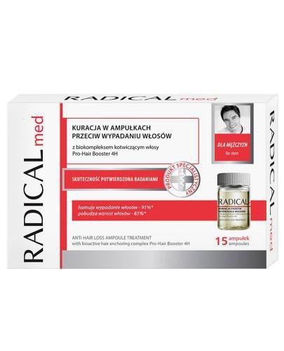 Ideepharm Radical Med kuracja przeciw wypadaniu włosów dla mężczyzn w ampułkach 15...