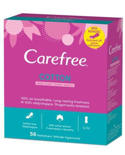 Carefree Cotton świeży zapach wkładki higieniczne 56 sztuk