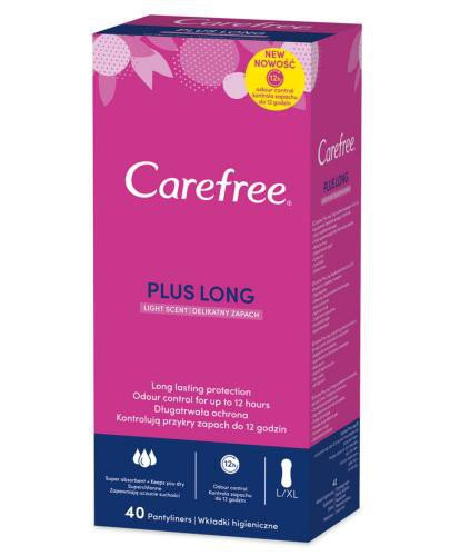 Carefree Plus Long delikatny zapach wkładki higieniczne 40 sztuk