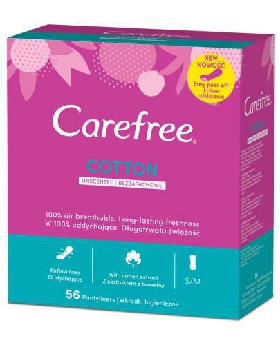 Carefree Cotton bezzapachowe wkładki higieniczne 56 sztuk