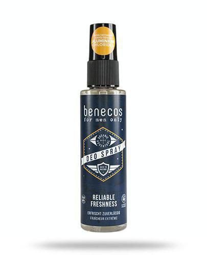 Benecos For Men Only odświeżający deo spray dla mężczyzn 75 ml