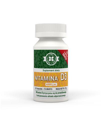AMC witamina D3 4000j.m. 45 kapsułek + 15 kapsułek