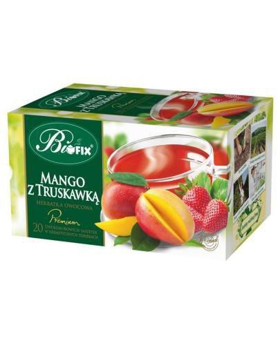 BiFix Premium mango z truskawką herbatka owocowa ekspresowa 20x 2 g