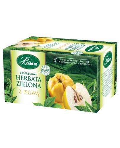 BiFix herbata zielona ekspresowa z pigwą 20x 2 g