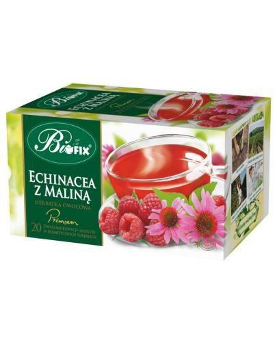 BiFix Premium echinacea z maliną herbatka owocowa ekspresowa 20x 2 g