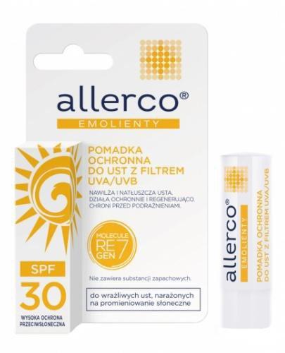 Allerco Emolienty pomadka ochronna do ust z filtrem SPF30 4,9 g