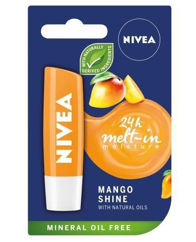 Nivea Mango Shine pielęgnująca pomadka do ust 6 g