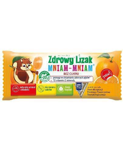 Zdrowy lizak Mniam-Mniam o smaku pomarańczy (łezka) 1 sztuka