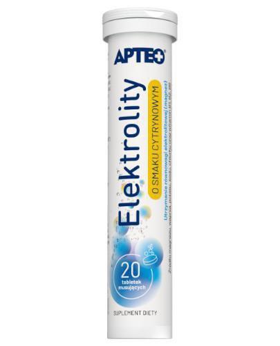 Apteo Elektrolity o smaku cytrynowym 20 tabletek musujących