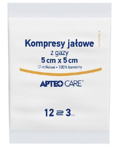 Apteo Care Kompresy jałowe 5 cm x 5 cm 3 sztuki
