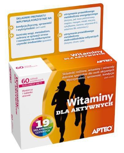 Apteo witaminy dla aktywnych 60 tabletek powlekanych