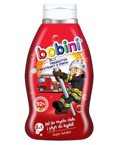 Bobini płyn do kąpieli i mycia ciała 2w1 Super bohater 660 ml