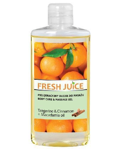 Fresh Juice pielęgnacyjny olejek do masażu Tangerine & Cinnamon + Macadamia oil 150 ml