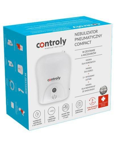 Controly Nebulizator pneumatyczny Compact dla dzieci dorosłych i niemowląt 1 sztuka
