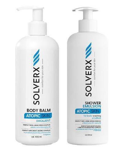 Solverx Atopic Skin balsam do ciała do skóry atopowej 400 ml  + emulsja do mycia ciał...