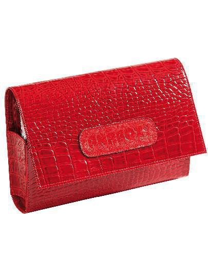 Kasetka na leki ANABOX de luxe 7 dniowa z podzialem na pory kolor czerwony lakierowany 1 s...