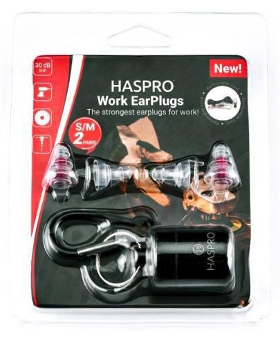 Zatyczki do uszu wielorazowe Haspro Work EarPlugs 2 pary