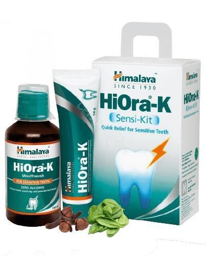 Himalaya HiOra-K Sensi-Kit pasta do zębów 50 g + płyn do płukania jamy ustnej 150 ml [...
