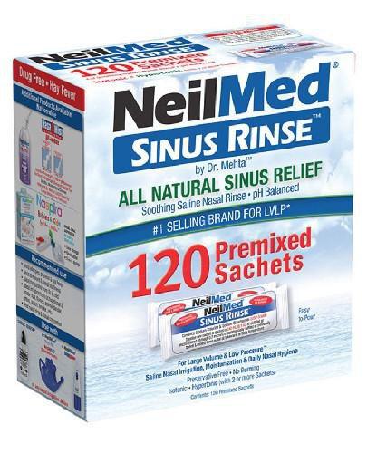 Sinus Rinse zestaw uzupełniający dla dorosłych i dzieci powyżej 6 roku życia 120 sasz...